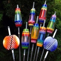 """From the kiln #softglass #sodalime #glassbeads #lampworkbeads #glass #glassofig #beadsofig #stringer #enamel #rainbowsforever"""