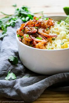 Jerk Shrimp With Pineapple Rice