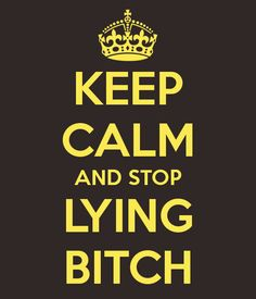 KEEP CALM AND STOP LYING BITCH...this would be a good xmas present for a few people I know!