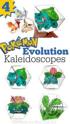 Pokemon Evolution DIY - Paper Toys - Kaleidocycle