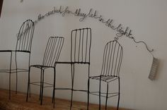 wirework by Mel Day in the OWL gallery, Frome
