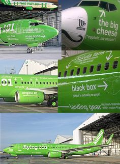 """South African airline Kulula Air got a lot of press when it rolled out Flying 101, a Boeing 737 scribbled with pithy comments and instructions for use. It's not the first time Kulula has embraced humor when decorating planes. It once covered a plane in camouflage and painted """"No one saw us coming"""" on the fuselage."""