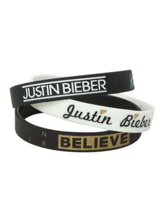 Justin Bieber Believe Rubber Bracelet 3 Pack | Hot Topic