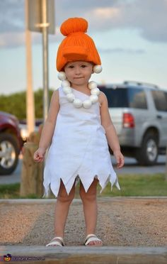 My daughter is wearing it. I bought white fabric from hobby lobby and cut it using a dress of hers for measurements and hot glued it together. Halloween Costume Contest, Halloween Diy, Costume Ideas, Cartoon Costumes, Baby Costumes, Costume Works, Styrofoam Ball, Creative Costumes, White Fabrics