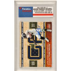 LaDainian Tomlinson San Diego Chargers Fanatics Authentic Autographed 2002 Fleer Genuine #GA-LT Card Containing a Piece of Game Used Material