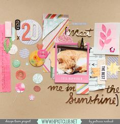 The Hip Kit Club Monthly Scrapbook Kit Club offers the best monthly Embellishment, Paper, Cardstock, Project Life and Color Scrapbook Kits! Hip Kit Club, Websters Pages, Scrapbooking Layouts, My Sunshine, Card Stock, Thats Not My, Paper Crafts, Creative, Projects