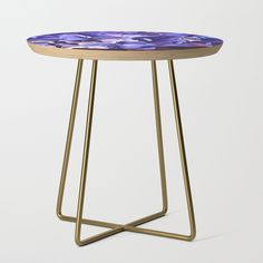 Show-stopper Ecuadorian Stained Glass 0760 Side Table by Khoncepts. Available in a square or round table top, and black or gold leg colors. - Square: x x (H) - Round: (diameter) x (H) - Baltic birch table top with beveled edge