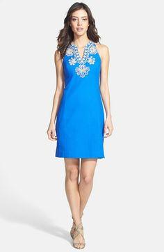 2b03565ab5e6 Lilly Pulitzer® Soutache Trim Cotton Piqué Shift Dress available at   Nordstrom Dressy Dresses