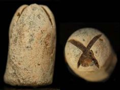 """What is thought to be a fired Enfield bullet that a Civil War soldier picked up & carved a big """"X"""" in its nose. This is a small caliber bullet with a cone cavity. Dug from the Corinth/Shiloh area."""