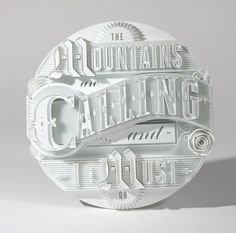 3D Type Sculptures + Animation on Behance in Typography