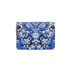 Camilla Guardian of Secrets Large Canvas Clutch ($120) ❤ liked on Polyvore featuring bags, handbags, clutches, 5319-110144, blue, canvas handbags, tassel purse, canvas purse, zipper purse and tassel clutches
