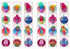 Trolls Holiday Stickers – Birthday Printable