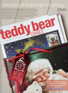 Give the gift that keeps on giving! Why not buy someone you love a gift subscription to Teddy Bear Times this Christmas. http://www.teddybeartimes.com/ #ChristmasIdeas #TeddyBearTimes
