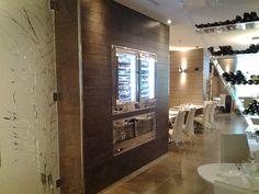 Ristorante Fishway (RM) - Fonika DF Rovere Grey e Acid Metal #skema #italiandesign #pavimento #design #fonika #flooring Architecture Design, Restaurants, Flooring, Mirror, Wall, Home Decor, Rome, Parquetry, Architecture Layout