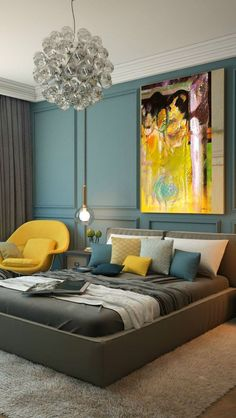Modern bedroom color...