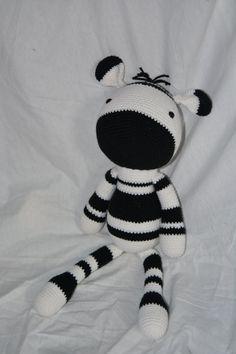 Zebra haakwerk gevulde dier/Toy Made to Order