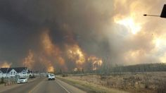 A large, intense wildfire is currently burning in the northern Alberta town of Fort McMurray.
