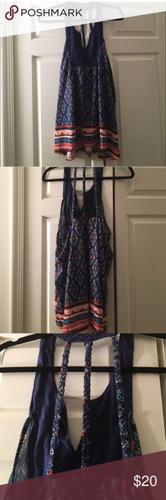 ✨LOVELY PRINT TANK✨ NWT XL Braided back is a nice touch Tops Tank Tops