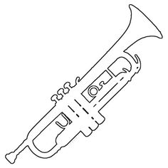 Free Marching Band Silhouette Instrument Patterns for Scrapbooking: Trumpet Pattern