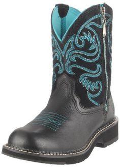 Ariat Women's Fatbaby Zip Boot,Black Deertan/Black,8.5 M US Ariat, http://www.amazon.com/dp/B004TKJABC/ref=cm_sw_r_pi_dp_RtFHqb1ENHPFP