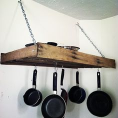 DIY Pallet Pot Rack - Feature by Faith Love and Babies