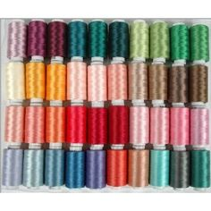 Polyester Embroidery Thread Set - 40 Spools (500 meter spools/40 wt.) - Set D Brilliant Colors