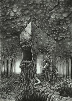 """Shouts of the false triumph"" by Jordny (Arcanvm) Call Of Cthulhu, Creepy Art, Weird Art, Scary, Arte Horror, Horror Art, Dark Fantasy Art, Dark Art, Arte Lowbrow"