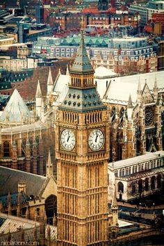Big Ben in the foreground, Westminster Abbey in the background...Doesn't get better than that.
