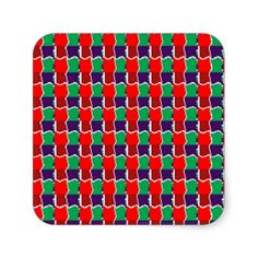 Elegant Chain work in Red n Green Graphic Pattern Square Sticker