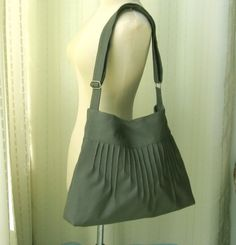 Diaper Bag Grey Canvas Lines Multi-Purpose Bag with Extra Pockets - Blythe. $35.00, via Etsy.