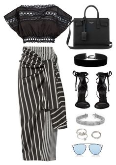 """""""Untitled #9660"""" by katgorostiza ❤ liked on Polyvore featuring Charo Ruiz, Joseph, Yves Saint Laurent, Schutz, Forever 21 and Christian Dior"""
