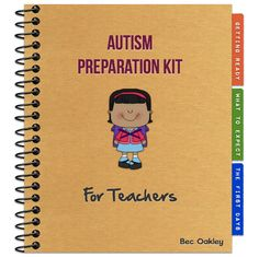 I am going to borrow this idea and make a custom notebook for high functioning/aspergers related issues for my daughter's teachers next year- may make my parent teacher /IEP meetings shorter!! There really aren't any lists out there for her specific needs that I've found. Autism Preparation Kit For Teachers~snagglebox