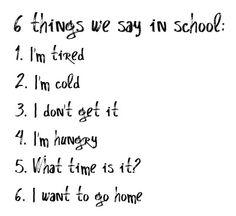 omg... the school comming again. please God, please!