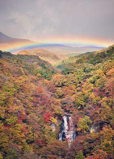 Rainbow over Kirifuri Falls, Nikko   Japan (by Rickuz)