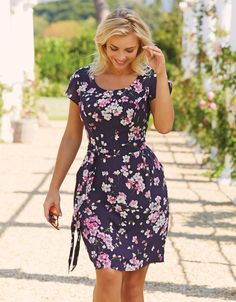 Jada Dress in Navy Floral by Pepperberry