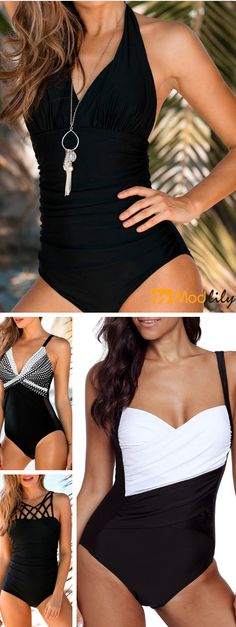 ab2dcded8f Enjoy your happy beach time in a gorgeous and shiny one piece swimsuits