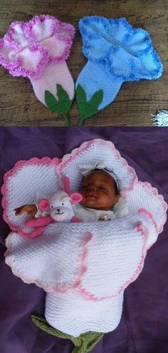 Knitted Bell Flower Baby Cocoons Are Adorable | The WHOot