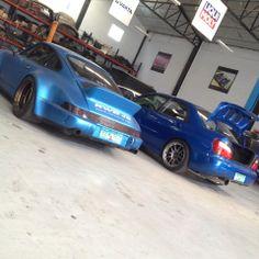 It's a blue kind of thing. Feb. 15, 2014 #carpornracing #airrex #airsuspension #carporn #rwb #impreza #carcustomization
