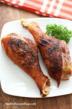 Roasted Turkey Legs-Roasted Turkey Legs Roasting turkey legs at a high temperature ensures crispy skin and juicy meat. - Roasted Turkey Legs-Roasted Turkey Legs Roasting turkey legs at a high temperature ensures crispy skin and juicy meat. Baked Turkey Legs, Roasted Turkey Legs, Turkey Drumstick Recipe, Drumstick Recipes, Turkey Leg Recipes, Chicken Recipes, Meat Cooking Times, Cooking Steak, Cooking Salmon