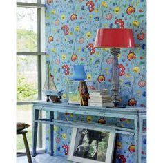 Pip Studio III behang Floral Fantasy Light Bleu 341035 bij Behangwebshop