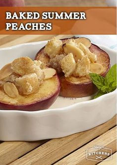 Baked Summer Peaches: Sister Schubert's Rolls, peaches, and ice cream. This is surefire crowd-pleaser with these three classic ingredients.