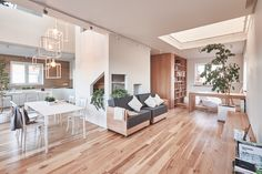 A White and Wood House for a Stylish Family