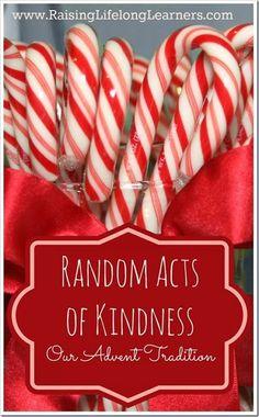 ADVENT ACTIVITY: Random Acts of Kindness Advent Tradition via Raising Lifelong Learners: