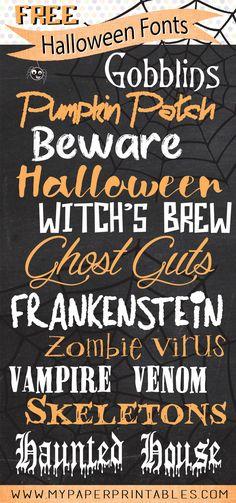 free halloween fonts