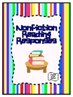 {freebie} Nonfiction Reading Responses ~ 2nd-5th Grades