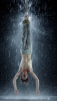 "Bill Viola, ""Martyrs (Earth, Air, Fire, Water)"", 'Water Martyrs' ~ WATER ~ (2014)."