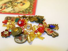 A Hole Lot Of Christmas Charm Bracelet by MMVintageSweets on Etsy, $24.00