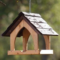 """Gothic"" bird feeder table"