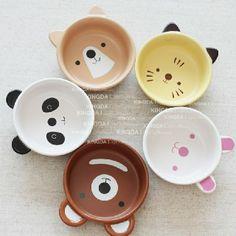 Special export Japanese ceram tableware cute cartoon animal Bowl the Kawaii baby children Bowl suit - ZZKKO http://zzkko.com/n5582 $ 5.08 USD