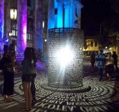 public art with light and letters - Google Search